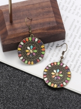 Bohemian Colorful Round Earrings For Women