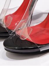 Transparent Super High Womens Sandals