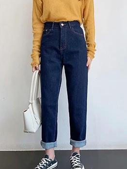 Smart Waist Deep Blue Ladies Jeans