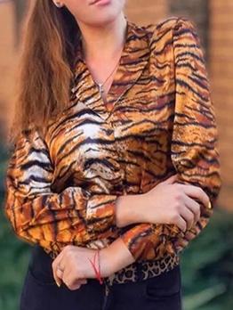 Leopard Printed Fashion Blouse