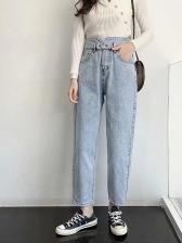 Pure Color Fashion Denim Jeans