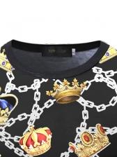 Versatile Chain Pattern Men t Shirt Printing