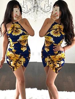 Sexy Backless Crisscross Ladies Bodycon Dress