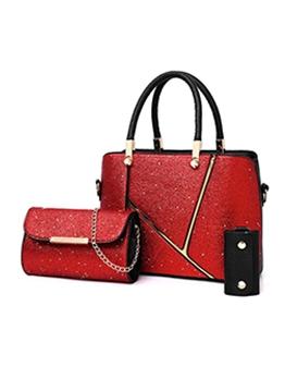 Glitter Sequins Large Capacity 3 Piece Handbags Set