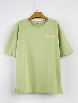 Versatile Short Sleeve Cotton Plain T Shirt
