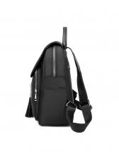 Tassel Pendant Solid Color Backpacks For Women