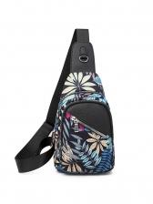 Colorful Printing Multiple Zipper Ladies Bum Bags
