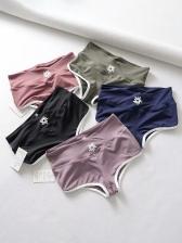 Short Printed Solid Tight Yoga Pants