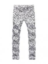 Hip-Pop Dollar Pattern Straight Leg Mens Pants
