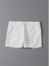 Pure Color High Waist Ladies Sports Shorts