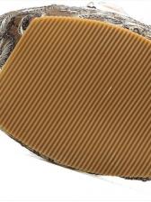 Sequined Rhinestone Slip On Wedges