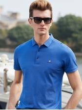 Business Embroidery Logo Short Sleeve Polo Shirts