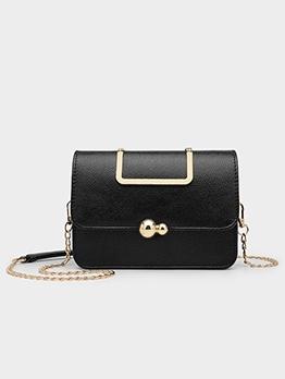 Metal Splicing Golden Chain Shoulder Bags For Women
