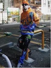 Colorful Skull Print Mens Skinny Jeans