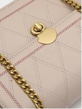 Spin Lock Thread Rhombus Lattice Chain Shoulder Bag
