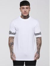 Letter Print Short Sleeve Crew Neck T-shirt