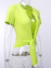 Reflective Light Cardigan Green T Shirt