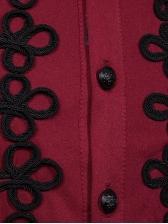 Vintage Button Decor Long Sleeve Shirts For Men