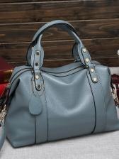 Easy Matching Pure Color Ladies Crossbody Handbags