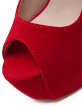 Solid Peep Toe Platform High Heels