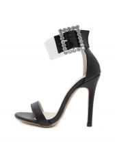 Rhinestone Buckle Open Toe Summer Sandals
