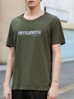 Plain Style Round Collar Summer Cheap T Shirts