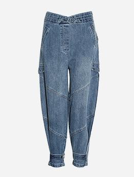 Boutique Mid Waist Harem Jeans For Women