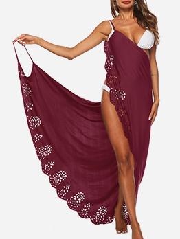V Neck Backless Sleeveless Maxi Dress For Beach