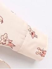 Spring Cartoon Printed Long Sleeve Blouse
