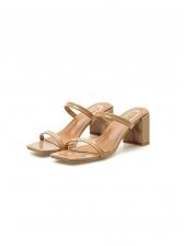 Square Toe Chunky Heel Ladies Slippers
