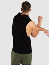 Casual Summer Hooded Printed Men Vest
