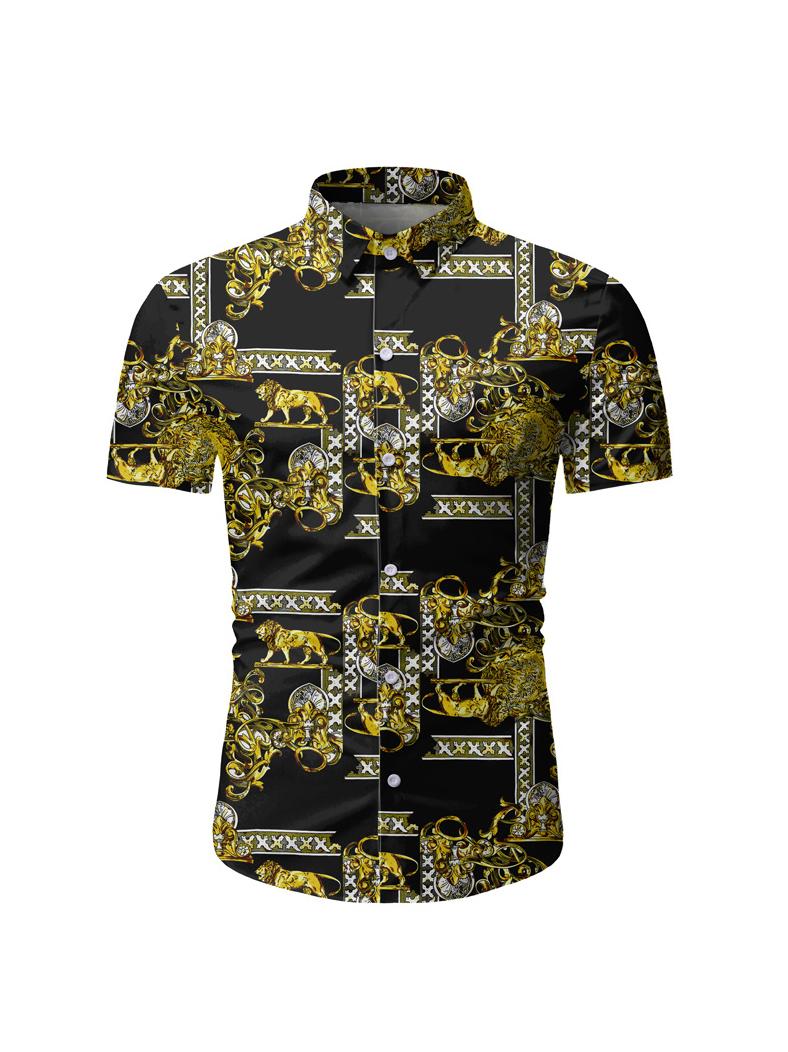 Euro Animal Chain Pattern Shirts For Men