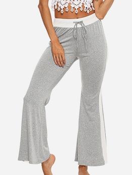 ContrastSideseam Flare Bottom High Waisted Jeans