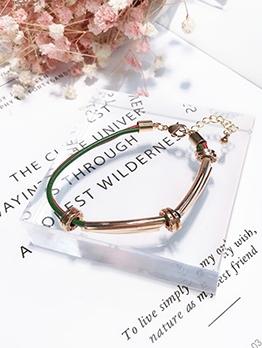 Simple Style Contrast Color Metal Bracelets For Women