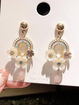 Sweat Acrylic Flower Drop Earrings