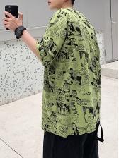 Casual Short Sleeve Loose t Shirt Printing