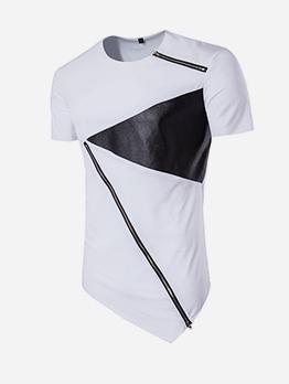 Leisure Color Block Short Sleeve t Shirt