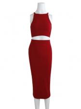 Plain Solid Off Shoulder Summer Crop Top And Skirt Set