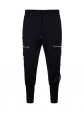 Sporty Zip Decor Solid Trousers For Men