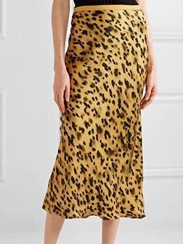 Animal Print High Waist Skirt For Women