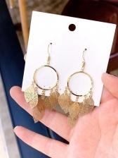 Royal Court Style Leaves Drop Earrings