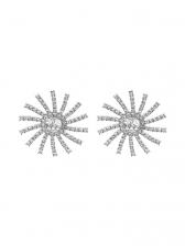 Rhinestone Sun Flower Statement Earrings
