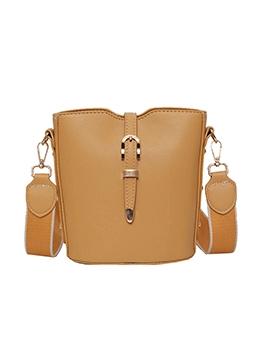 Detachable Wide Belt Solid Women Bucket Bag