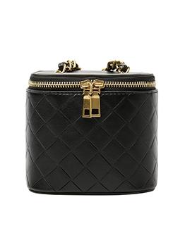 Double Zippers Rhombus Lattice Square Crossbody Bags