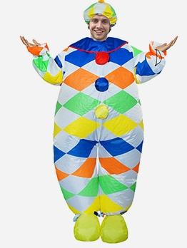 Color Blocks Clown Inflatable Fat Suit