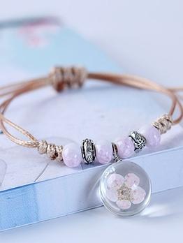 Peach Blossom Pendant Charm Bracelets
