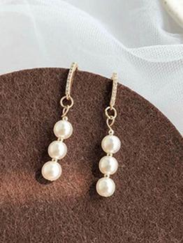 Simple Style Faux Pearl Earrings