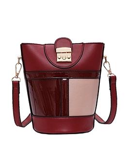 Detachable Belt Color Patchwork New Arrival Bucket Bag
