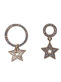 Chic Rhinestone Decor Star Earrings