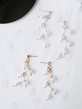 Creative Faux Pearl Long Earrings